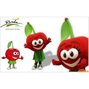 Mascotte rood en groen...