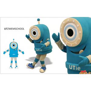 Roboter-Maskottchen, blaues...