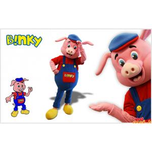 Mascote porco cor de rosa...