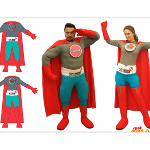 2 kostium superbohatera, mężczyzna i kobieta