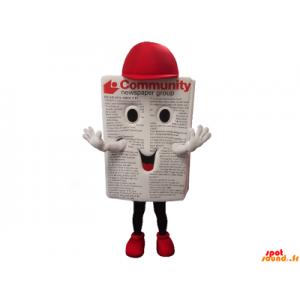 Mascot avis, magasin med en cap
