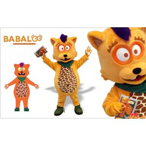 Mascot urso laranja, castor...