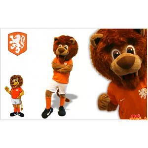 Ruskea leijona maskotti...