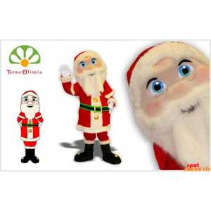 Mascot Weihnachtsmann in der roten und weißen Outfit