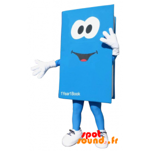 Mascot Blue And White Giant Book. Book Costume - MASFR034202 - Mascots of objects