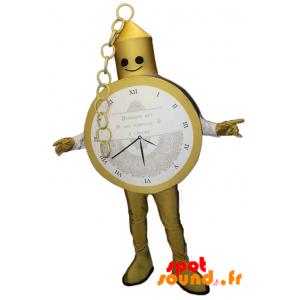 Mascotte de montre gousset dorée. Costume de montre - MASFR034203 - Mascottes d'objets