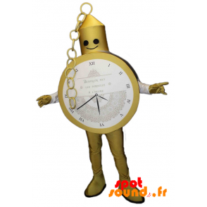 Mascotte de montre gousset dorée. Costume de montre