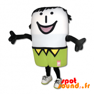 Snowman Mascot Smiling With A Colorful Outfit - MASFR034206 - mascotte