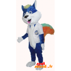 Cat Mascot, Blue Rodent With Big Teeth - MASFR034208 - Cat mascots