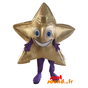 Mascot Giant And Smiling Golden Star. Star Costume - MASFR034209 - mascotte