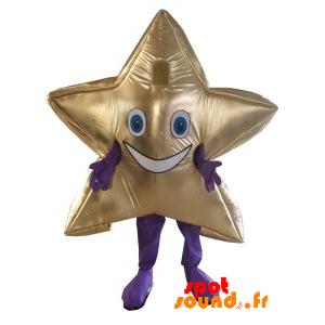 Mascot Giant And Smiling Golden Star. Star Costume - MASFR034209 - mascotte