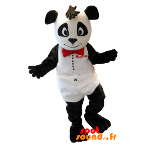 Mascot White And Black Bear. Auchan Panda Mascot - MASFR034213 - Mascot of pandas