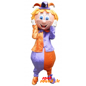 Mascot Clown, Fool The Colorful King - MASFR034214 - Human mascots