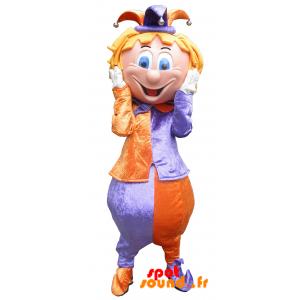 Mascotte de saltimbanque, de fou du roi très coloré - MASFR034214 - Mascottes Humaines