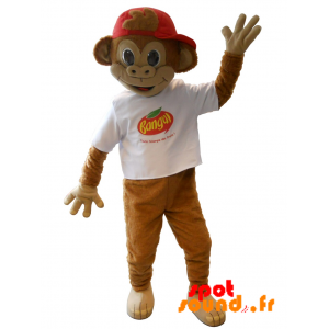 Monkey Mascot, Brown Marmoset Banga - MASFR034216 - Mascots monkey
