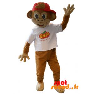Monkey Mascot, Brown Marmoset Banga - MASFR034216 - mascotte