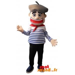 Mascotte de marin, de matelot avec un béret - MASFR034219 - Mascottes Homme