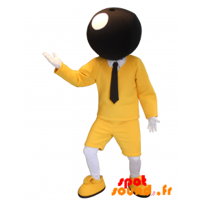 Bic Mascot. Yellow And Black Mascot Of Famous Brand Bic - MASFR034221 - Mascots famous characters
