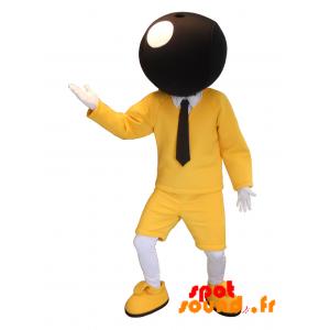 Mascotte Bic. Mascotte jaune et noire de la célèbre marque BIC - MASFR034221 - Mascottes Personnages célèbres