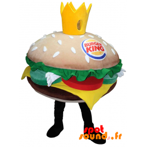 Mascot Burger King. Giant Burger Mascot - MASFR034225 - Fast food mascots