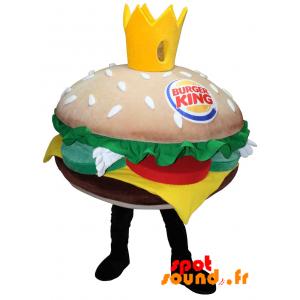 Mascotte Burger King. Mascotte de hamburger géant - MASFR034225 - Mascottes Fast-Food