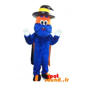 baloncesto de la mascota del CCI. brujo mascota, hombre azul - MASFR034229 - mascotte