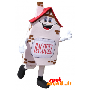 Mascot Bacouel, House, Pink House, Smiling - MASFR034243 - Mascots home
