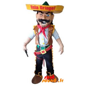 Mascotte de cow-boy. Mascotte de shérif, de Mexicain - MASFR034254 - Mascottes Homme