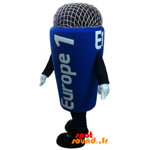 Mascotte de micro Europe 1. Mascotte de radio - MASFR034257 - Mascottes d'objets