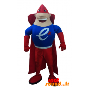 Very Muscular And Colorful Superhero Mascot