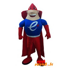 Very Muscular And Colorful Superhero Mascot - MASFR034259 - mascotte