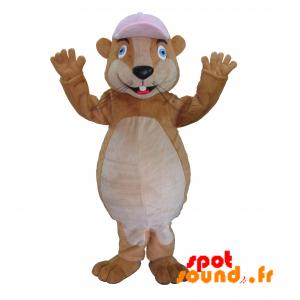Mascotte de rongeur, de marmotte, de hamster marron