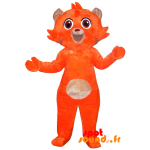 Orange And Beige Cat Mascot, Sweet And Cute - MASFR034266 - Cat mascots