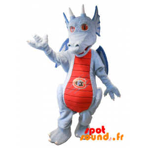 Mascot Blue And Red Dragon. Fantastic Mascot - MASFR034267 - Dragon mascot