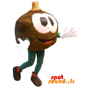 Mascotte de bonhomme rond, très souriant. Mascotte de Fully - MASFR034268 - Mascottes Homme