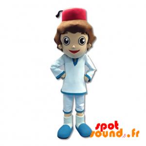 Sultan Mascot, Little Boy In Western Attire - MASFR034270 - mascotte