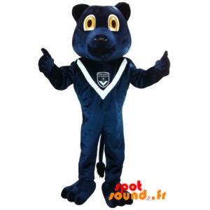 Mascotte de l'ours bleu des Girondins de Bordeaux - MASFR034271 - Mascotte d'ours