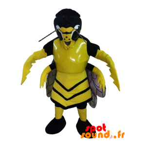 Mascot Hornet, Yellow And Black Wasp Scary - MASFR034274 - Mascots insect