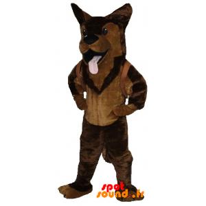 Mascotte de Berger allemand, de Malinois marron - MASFR034276 - Mascottes de chien