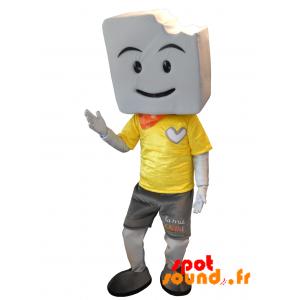Mascotte la Mie Caline. Mascotte de pain - MASFR034287 - Mascottes Personnages célèbres