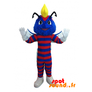 Insect Mascot, Blue And Red Caterpillar - MASFR034292 - Mascots insect