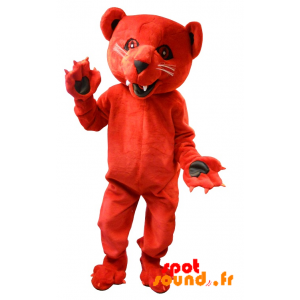 Mascot Roaring And Intimidating Red Bear - MASFR034293 - Bear mascot