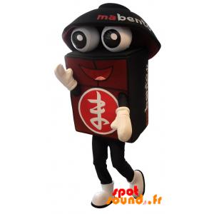 Maskot Bento obří, černá a červená - MASFR034295 - mascotte
