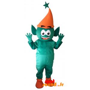 Green Leprechaun Mascot, Giant Elf. Fairy Mascot - MASFR034297 - Mascots unclassified