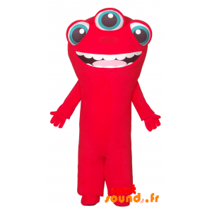 Extraterrestrial Mascot Red Eyes 3 - MASFR034298 - Monsters mascots