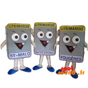 3 mascottes de matelas Litrimarché. 3 matelas