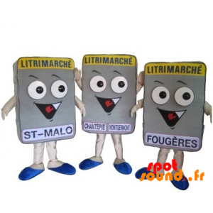 3 Mattress Litrimarché Mascots. 3 Mattress - MASFR034299 - Mascots of objects
