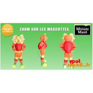 Mascot Minute Maid. Tiger Mascot With Citrus - MASFR034303 - Tiger mascots