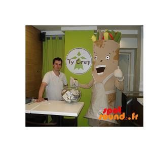 Mascot Wrap Of Lumpia, Spring Roll - MASFR034304 - mascotte