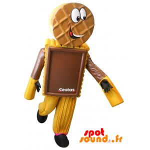Mascotte de gâteau, de biscuit chocolaté - MASFR034305 - Mascottes de patisserie